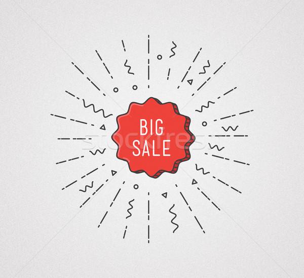 Büyük satış afiş renkli stil Stok fotoğraf © softulka