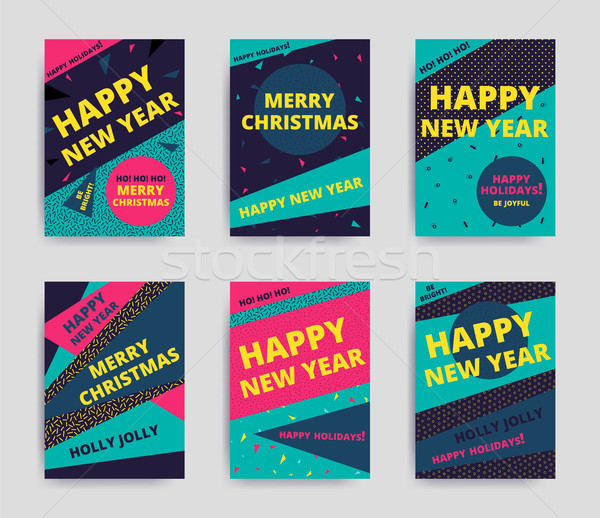 Merry christmas New Year design Stock photo © softulka