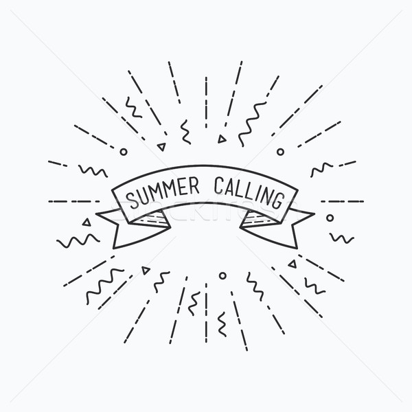 Summer calling. Inspirational vector illustration Stock photo © softulka