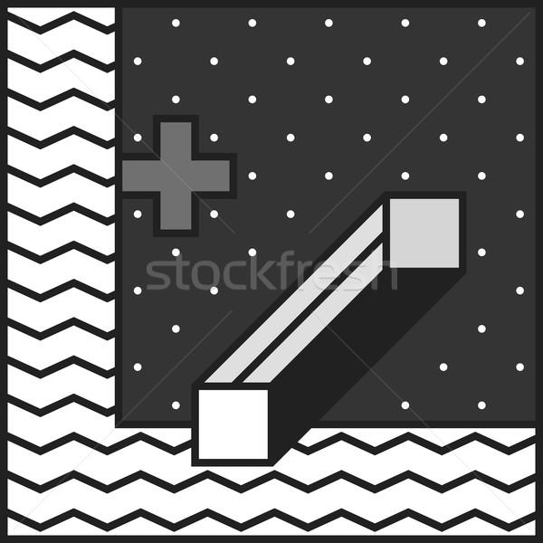 Stil tek renkli dekoratif duvar kağıdı Stok fotoğraf © softulka