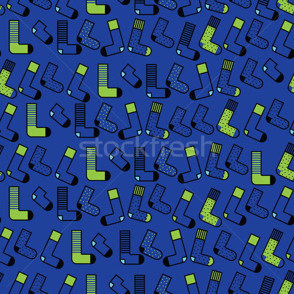 Stock photo: Cute colorful background Socks pattern