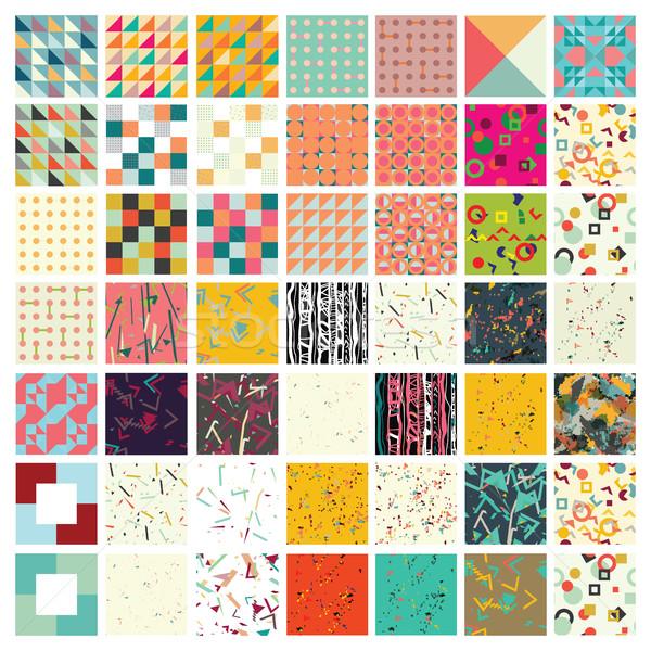 Sto uniwersalny inny geometryczny 100 Zdjęcia stock © softulka