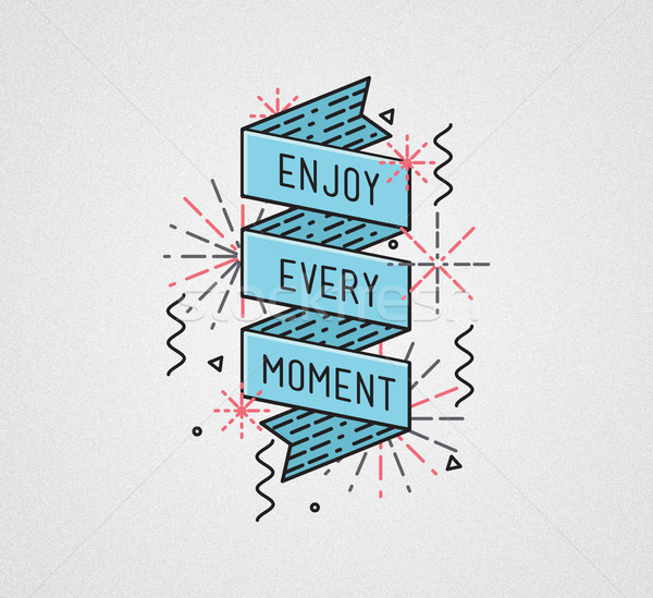 Enjoy every moment Inspirational illustration, motivational quotes Stock photo © softulka