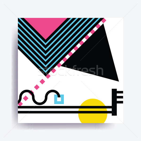Colorful trend Neo Memphis geometric pattern Stock photo © softulka