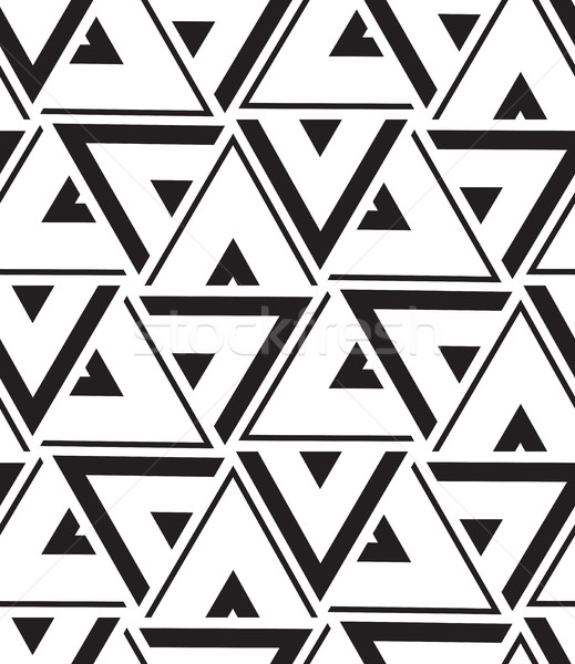 Vector geometric seamless pattern. Modern triangle texture, repe Stock photo © softulka