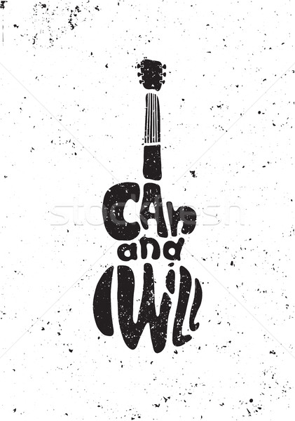 Inspirational motivational poster quote. I can and  will.   Stock photo © softulka
