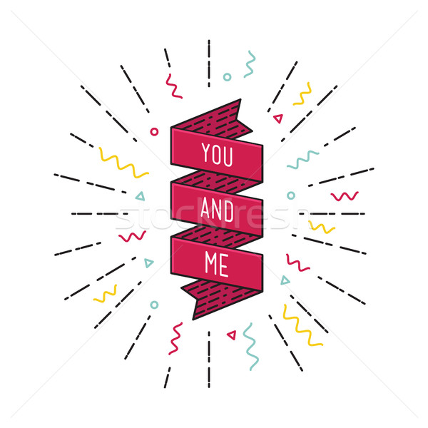 You and me. Inspirational vector illustration, motivational quotes flat poster Stock photo © softulka