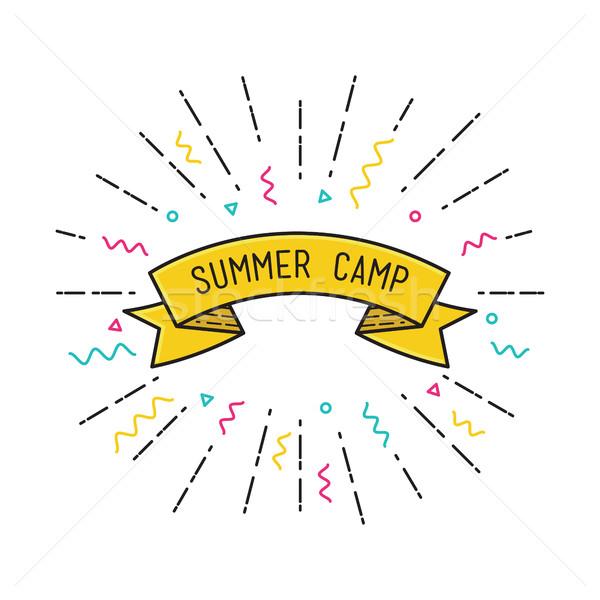 Vector campamento de verano anunciante diseno motivacional Foto stock © softulka