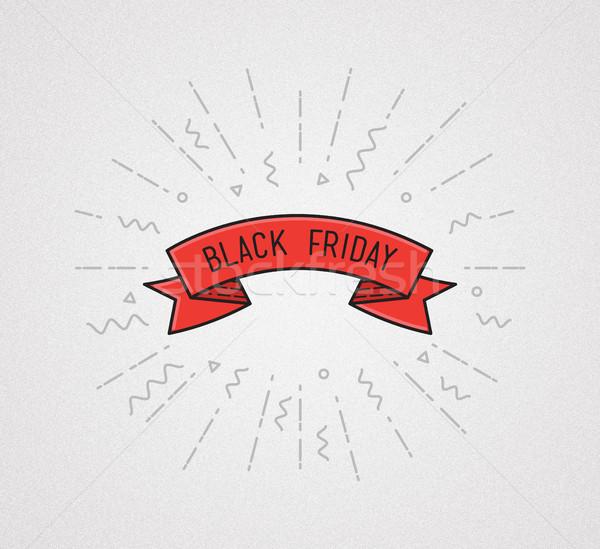 черная пятница иллюстрация цитировать плакат Сток-фото © softulka