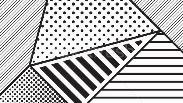 black and white pop art geometric pattern Stock photo © softulka