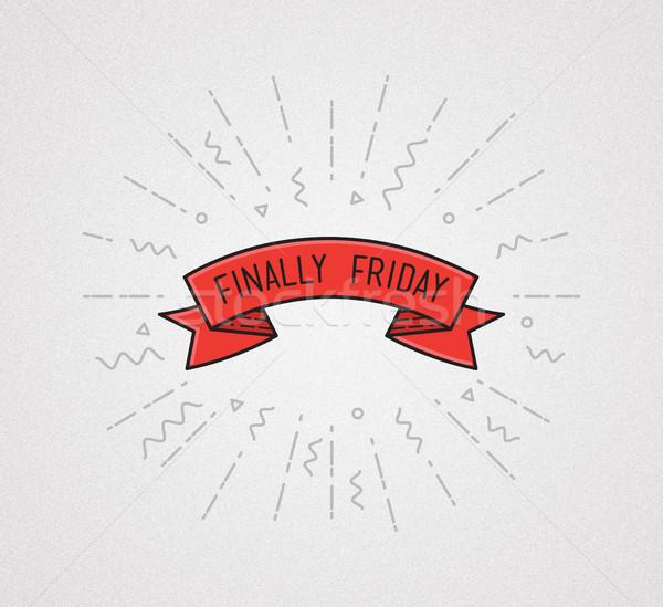 Black friday örnek motivasyon aktarmak poster Stok fotoğraf © softulka