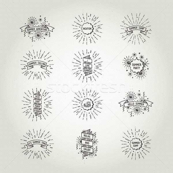 Kolekcja uniwersalny lata plakaty odizolowany Zdjęcia stock © softulka