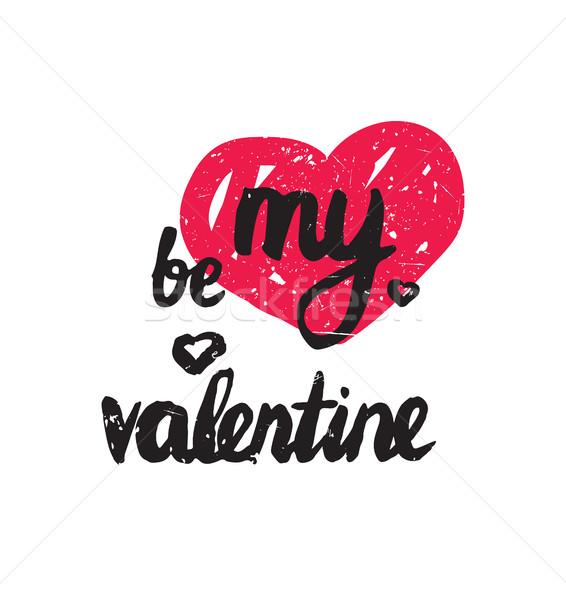 Enyém Valentin nap trendi poszter boldog valentin nap Stock fotó © softulka