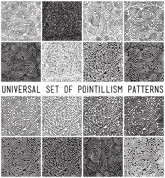 Universal geométrico listrado pontilhado conjunto Foto stock © softulka