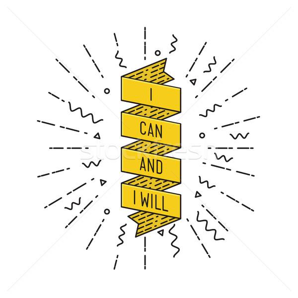 Can ilham verici motivasyon tırnak işareti poster Stok fotoğraf © softulka