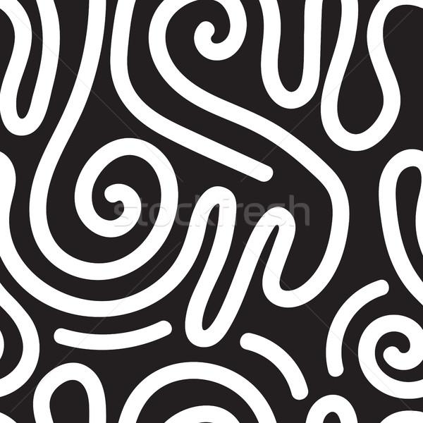 Vector geometric seamless pattern. Repeating abstract circles gr Stock photo © softulka