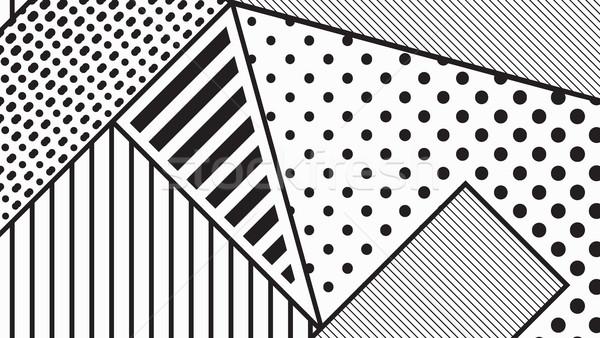 черно белые Поп-арт геометрическим рисунком ярко блоки Сток-фото © softulka