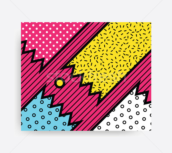 Colorful Pop art pattern  Stock photo © softulka