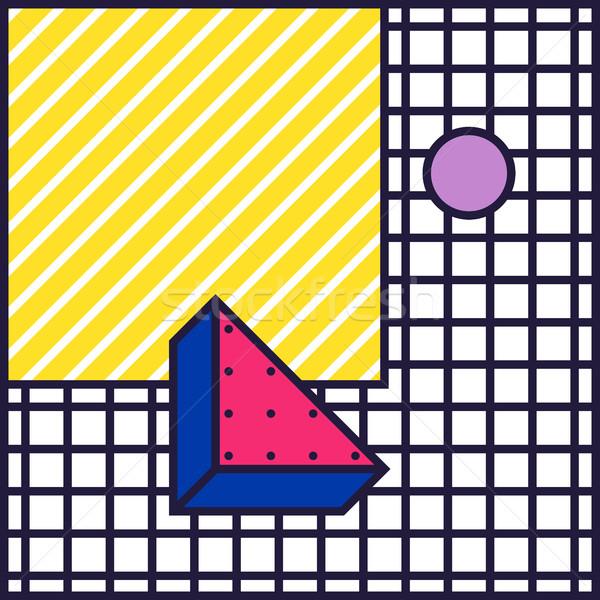 80s stile colorato decorativo wallpaper Foto d'archivio © softulka