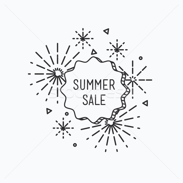 Big summer sale shining banner, colorful background in flat styl Stock photo © softulka