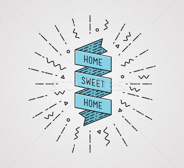 Home sweet . Inspirational illustration, motivational quotes Stock photo © softulka