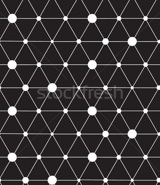 Vector seamless pattern. Modern line geometric background Stock photo © softulka