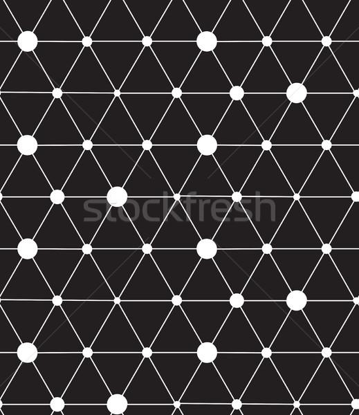 Vektör modern hat geometrik doku Stok fotoğraf © softulka