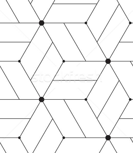Vector moderna línea geométrico textura Foto stock © softulka