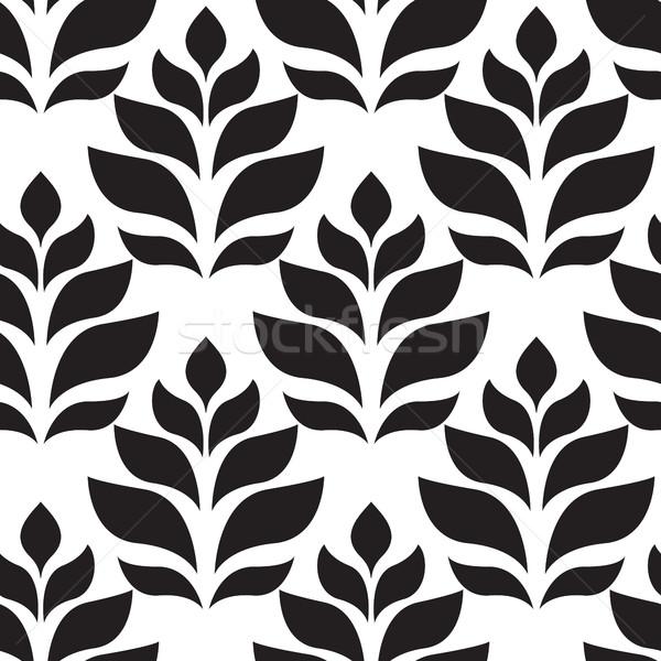 Vektör geometrik modern yaprakları Stok fotoğraf © softulka