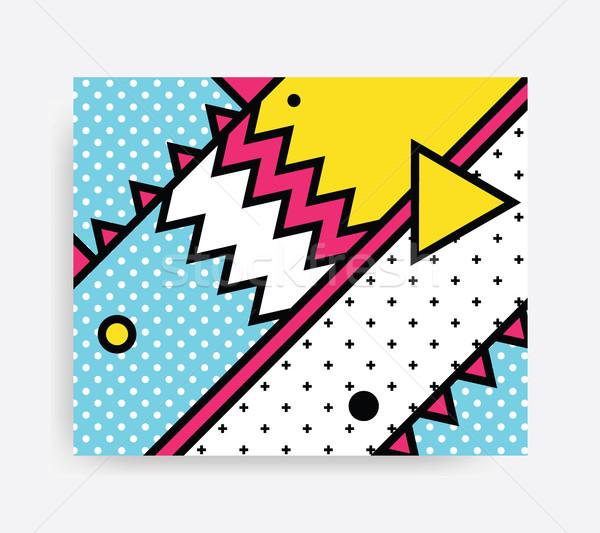Colorful Pop art pattern  Stock photo © softulka