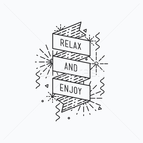 relax and enjoy. Inspirational vector summer illustration Stock photo © softulka
