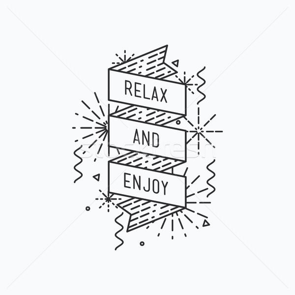 Dinlenmek tadını çıkarmak ilham verici vektör yaz örnek Stok fotoğraf © softulka