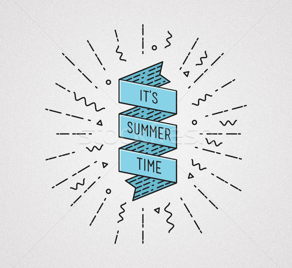 It is summer time. Inspirational illustration, motivational quote Stock photo © softulka