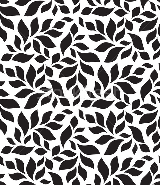 Vector geometric seamless pattern. Modern floral, leaves texture Stock photo © softulka