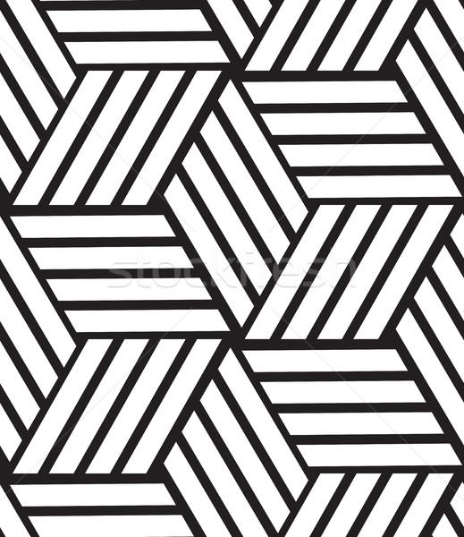 ベクトル 現代 スタイリッシュ 行 六角形 ストックフォト © softulka