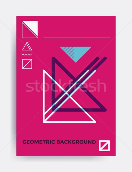 Minimalistic design vector poster Stock photo © softulka