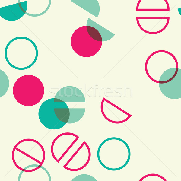 Universal colorful geometric seamless pattern with circle lap and split times Stock photo © softulka