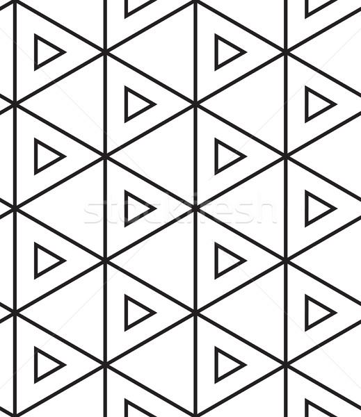 Vector moderna lineal geométrico textura Foto stock © softulka