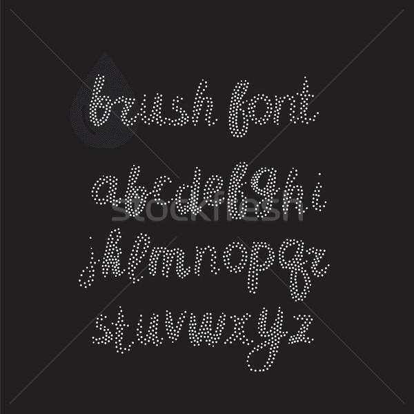 Vektör fırçalamak alfabe beyaz el Stok fotoğraf © softulka