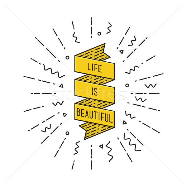 Hayat güzel ilham verici motivasyon tırnak işareti Stok fotoğraf © softulka