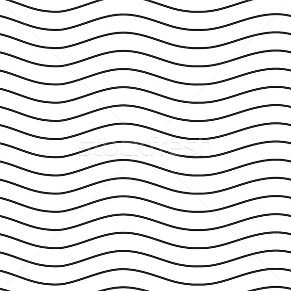 Universal seamless linear striped wave abstract pattern in black Stock photo © softulka