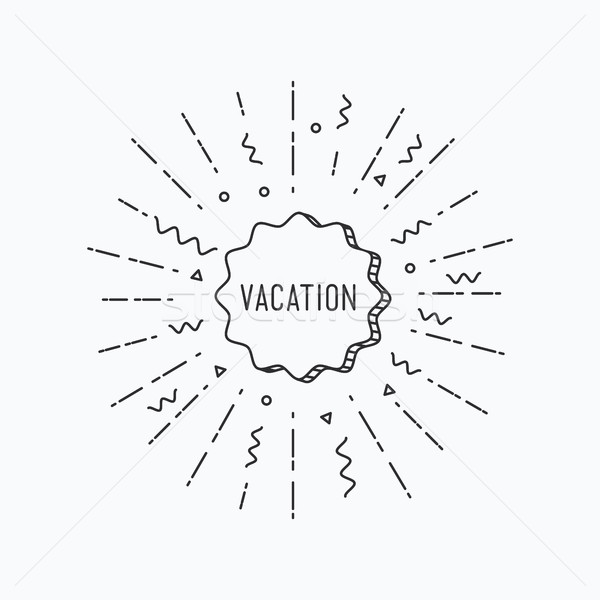 Vocation. Inspirational vector summer illustration Stock photo © softulka