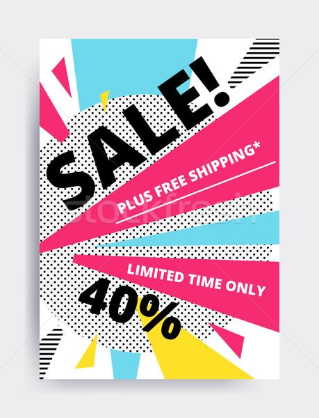Satış afiş şablon dizayn göz web sitesi Stok fotoğraf © softulka