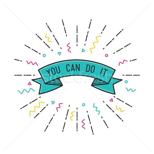 Can ilham verici motivasyon tırnak işareti renk Stok fotoğraf © softulka