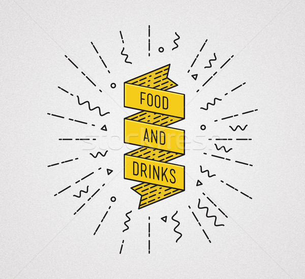 Food and drinks. Inspirational illustration, motivational quote Stock photo © softulka