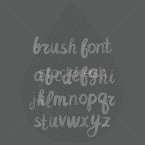 вектора щетка алфавит белый стороны Сток-фото © softulka