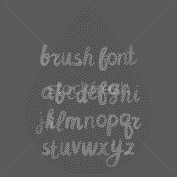 Vector handwritten brush alphabet on white background. Hand draw Stock photo © softulka