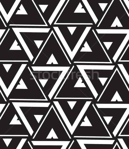Vektör geometrik modern üçgen doku Stok fotoğraf © softulka