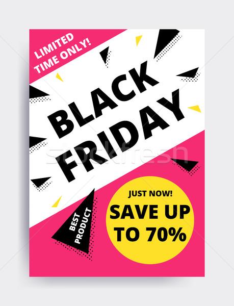 Vente bannière modèle design black friday site Photo stock © softulka