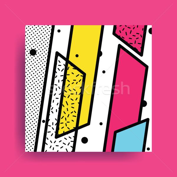 Színes trend geometrikus minta fényes kockák szín Stock fotó © softulka